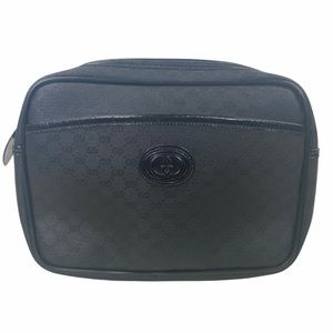 Gucci Clutch bag Micro GG Black PVC